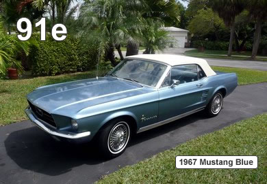 1967 Mustang Blue - 91e